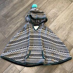 Girls Tucker + Tate poncho sweater, 6